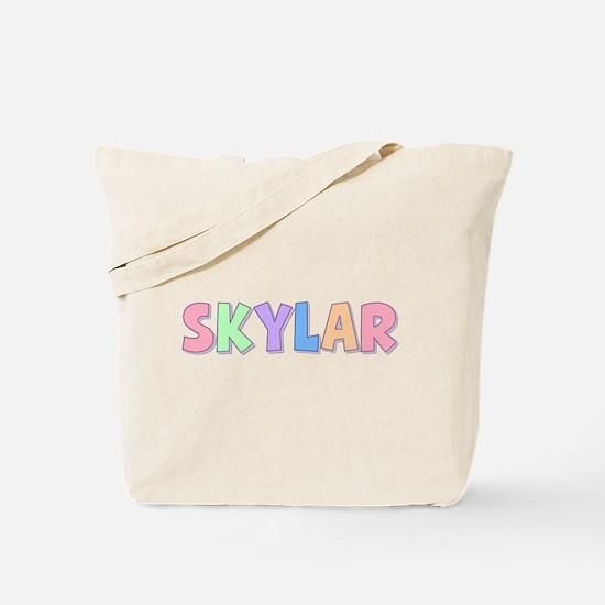 Skylar Rainbow Pastel Tote Bag