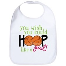 Hoop Like A Girl Bib
