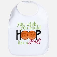 Hoop Like A Girl Bib