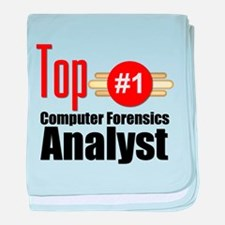 Top Computer Forensics Analyst baby blanket
