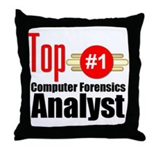 Top Computer Forensics Analyst Throw Pillow