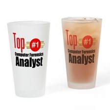 Top Computer Forensics Analyst Drinking Glass