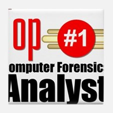 Top Computer Forensics Analyst Tile Coaster