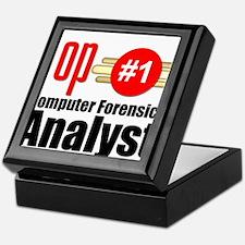 Top Computer Forensics Analyst Keepsake Box
