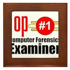 Top Computer Forensics Examiner Framed Tile