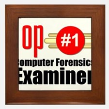 Top Computer Forensics Examiner Framed Tile