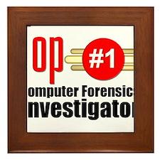 Top Computer Forensics Investigator Framed Tile