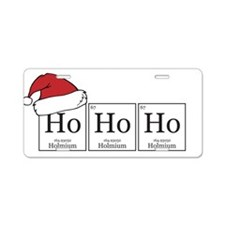 Ho Ho Ho [Chemical Elements] Aluminum License Plat