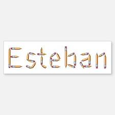 Esteban Pencils Bumper Bumper Bumper Sticker