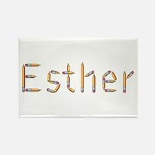 Esther Pencils Rectangle Magnet