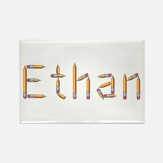Ethan Pencils Rectangle Magnet