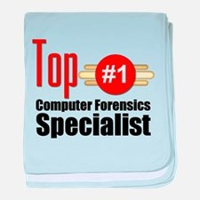 Top Computer Forensics Specialist baby blanket