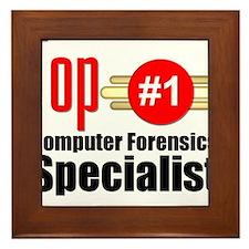 Top Computer Forensics Specialist Framed Tile