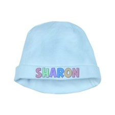 Sharon Rainbow Pastel baby hat