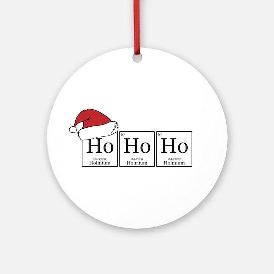 Ho Ho Ho [Chemical Elements] Ornament (Round)