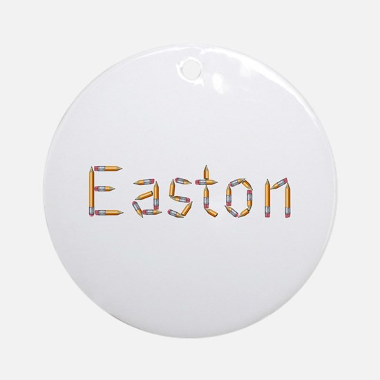 Easton Pencils Round Ornament