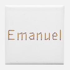 Emanuel Pencils Tile Coaster