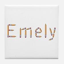 Emely Pencils Tile Coaster