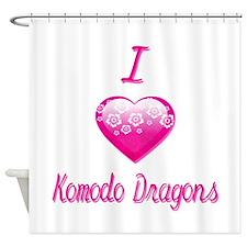 I Love/Heart Komodo Dragons Shower Curtain