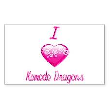 I Love/Heart Komodo Dragons Decal