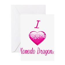 I Love/Heart Komodo Dragons Greeting Card