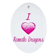 I Love/Heart Komodo Dragons Ornament (Oval)