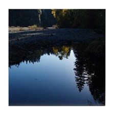 River Reflections Tile Coaster