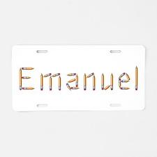 Emanuel Pencils Aluminum License Plate