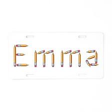 Emma Pencils Aluminum License Plate