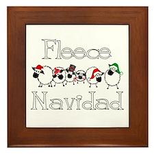 Fleece Navidad Framed Tile