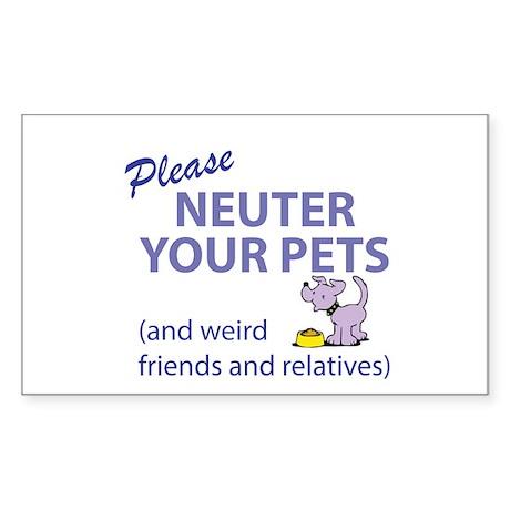 NEUTER YOUR PETS Sticker (Rectangle)