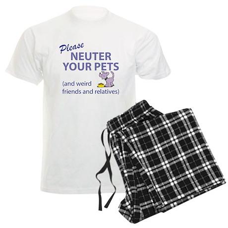 NEUTER YOUR PETS Men's Light Pajamas