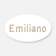 Emiliano Pencils Oval Car Magnet