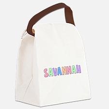 Savannah Rainbow Pastel Canvas Lunch Bag