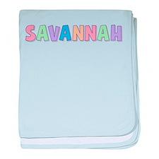 Savannah Rainbow Pastel baby blanket