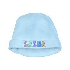 Sasha Rainbow Pastel baby hat