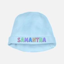 Samantha Rainbow Pastel baby hat