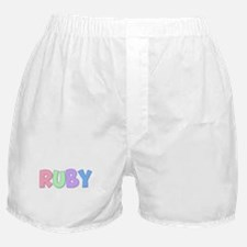 Ruby Rainbow Pastel Boxer Shorts