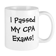 Passed CPA Exams Success Celebration Small Mugs