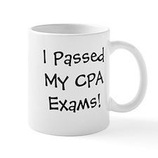 Passed CPA Exams Success Celebration Small Mugs