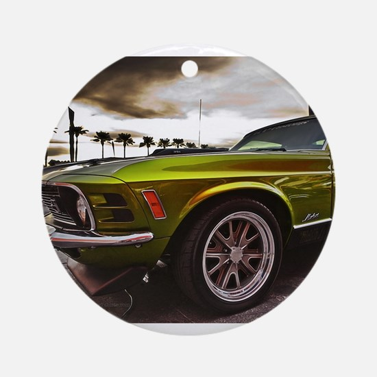 70 Mustang Mach 1 Ornament (Round)