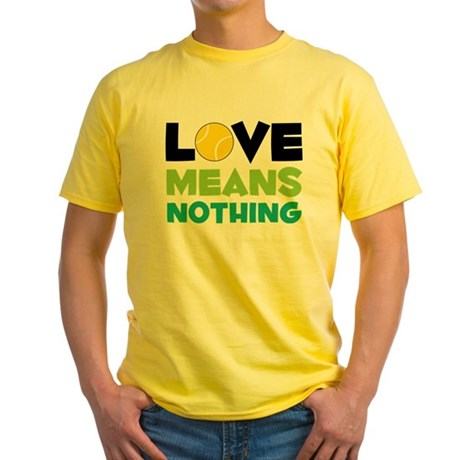 Love Means Nothing Yellow T-Shirt