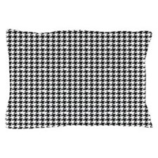 Black and White Houndstooth Pillow Case