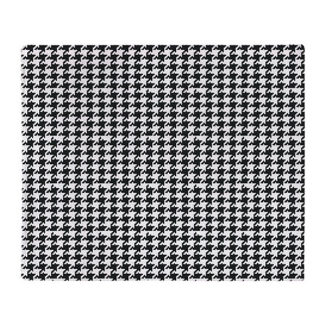 black and white houndstooth throw blanket by organicpixels. Black Bedroom Furniture Sets. Home Design Ideas