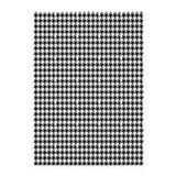 Black houndstooth 5x7 Rugs