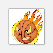 "basketball Square Sticker 3"" x 3"""