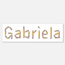 Gabriela Pencils Bumper Bumper Bumper Sticker