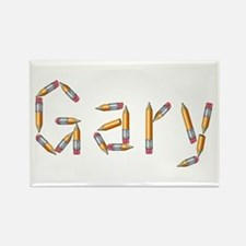 Gary Pencils Rectangle Magnet