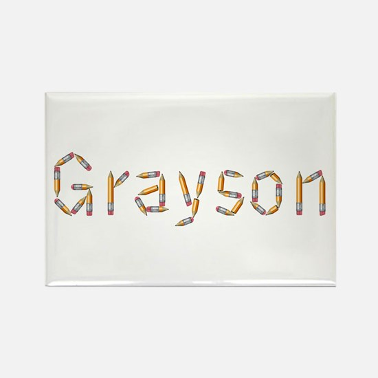 Grayson Pencils Rectangle Magnet