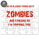 Zombies are chasing us! Puzzle
